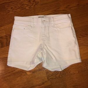 white low waisted jean shorts